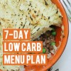Top menu ideas for a low carb diet plan